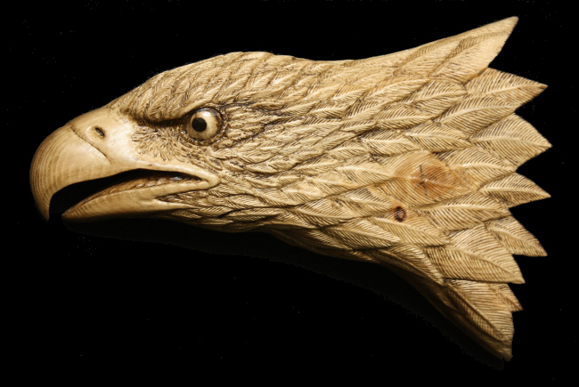 Spruce Eagle Carving